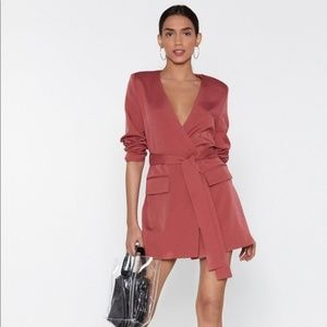 NWT Nasty Gal Wrapped Up In Your Blazer Dress